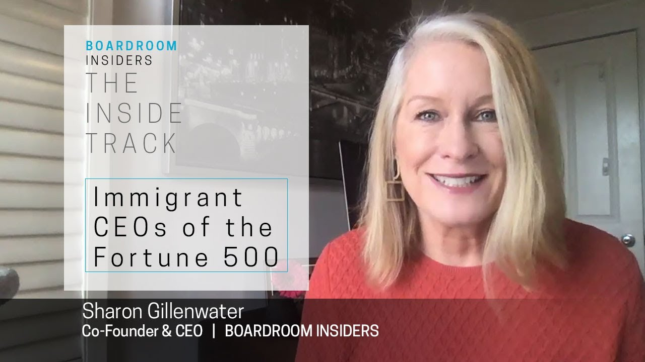 Inside Track08- Immigrant CEOs of the Fortune 500