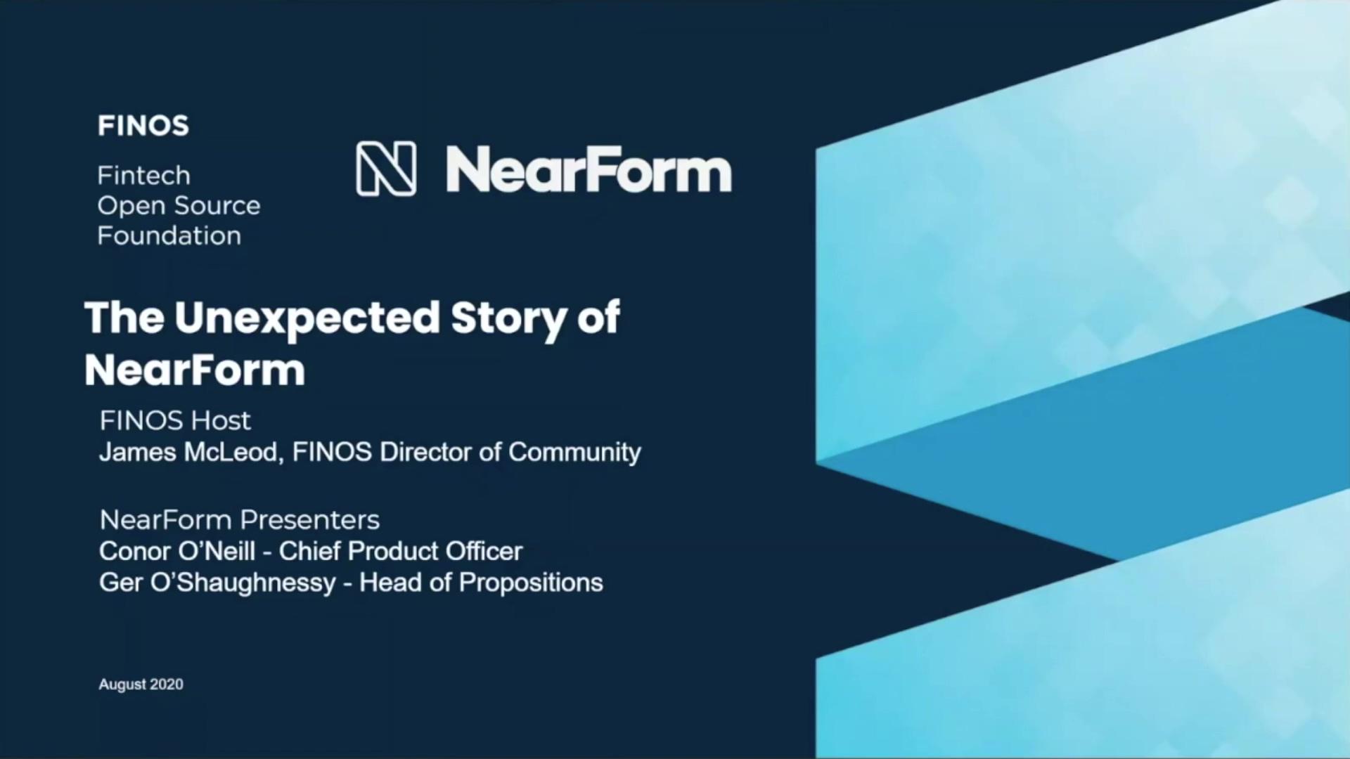 FINOS Meetup - Nearform - 26 Aug 20