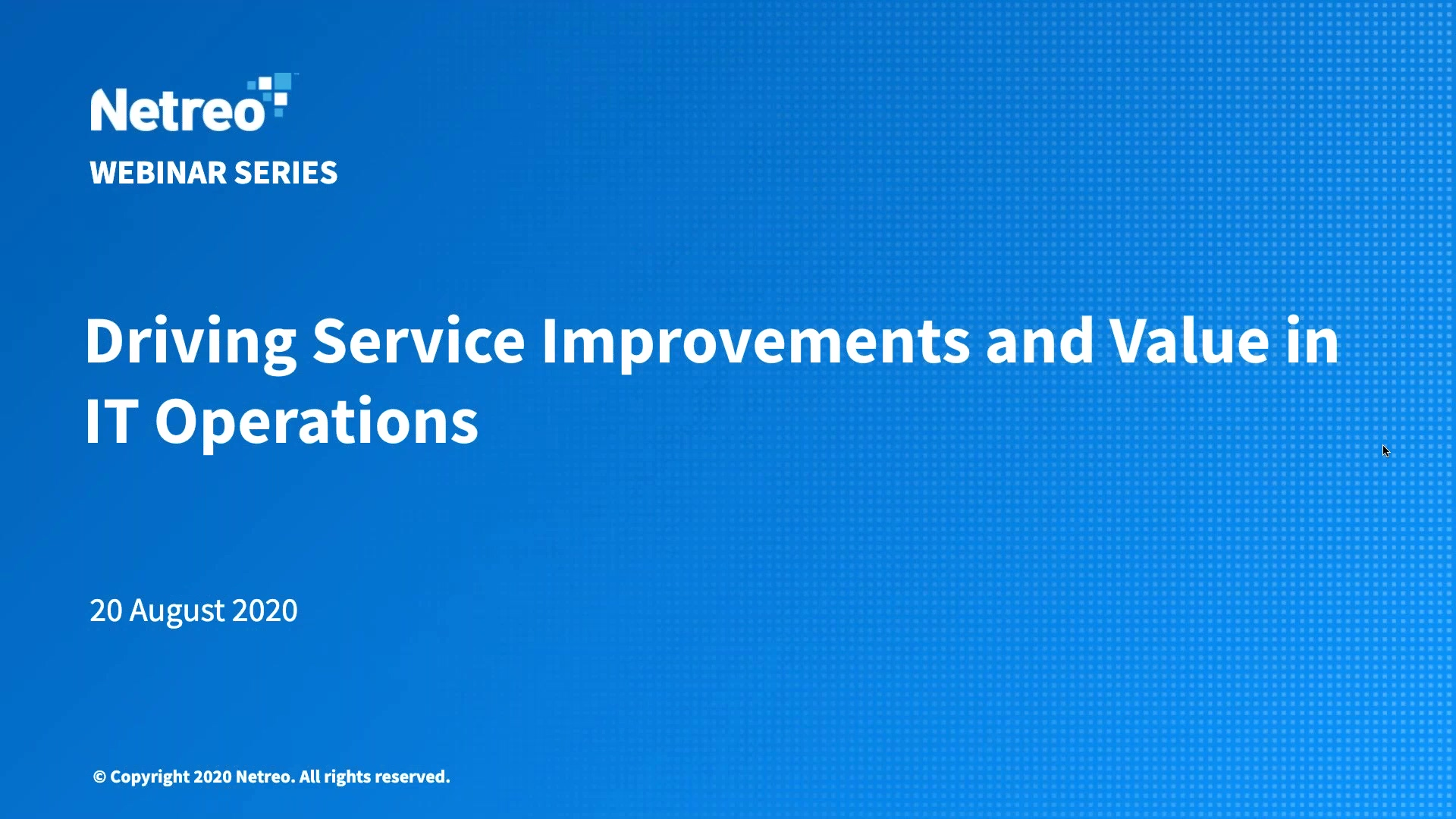 Driving Service Improvements and Value in IT Operations