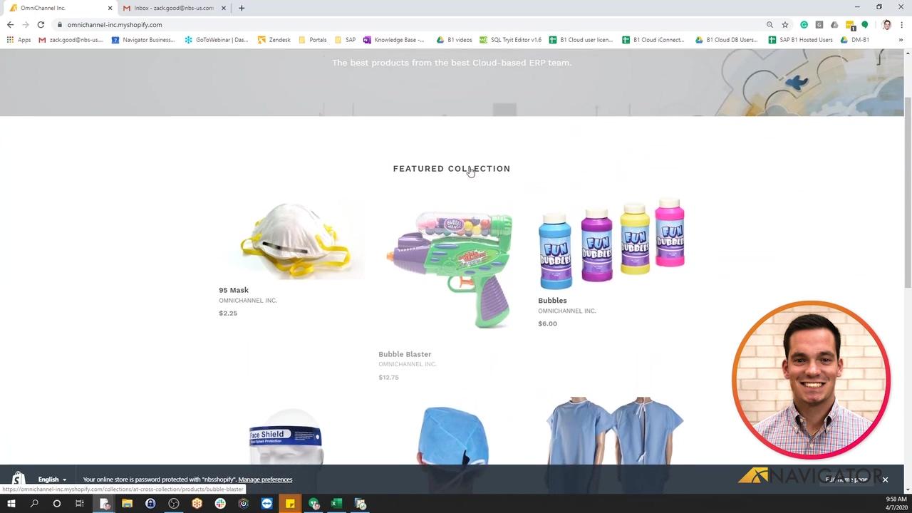 Ecommerce Integration Shopify - SAP Business One - SalesWorkbook