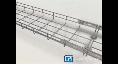 GlobalTrac Wire Mesh Cable Tray - Video 0