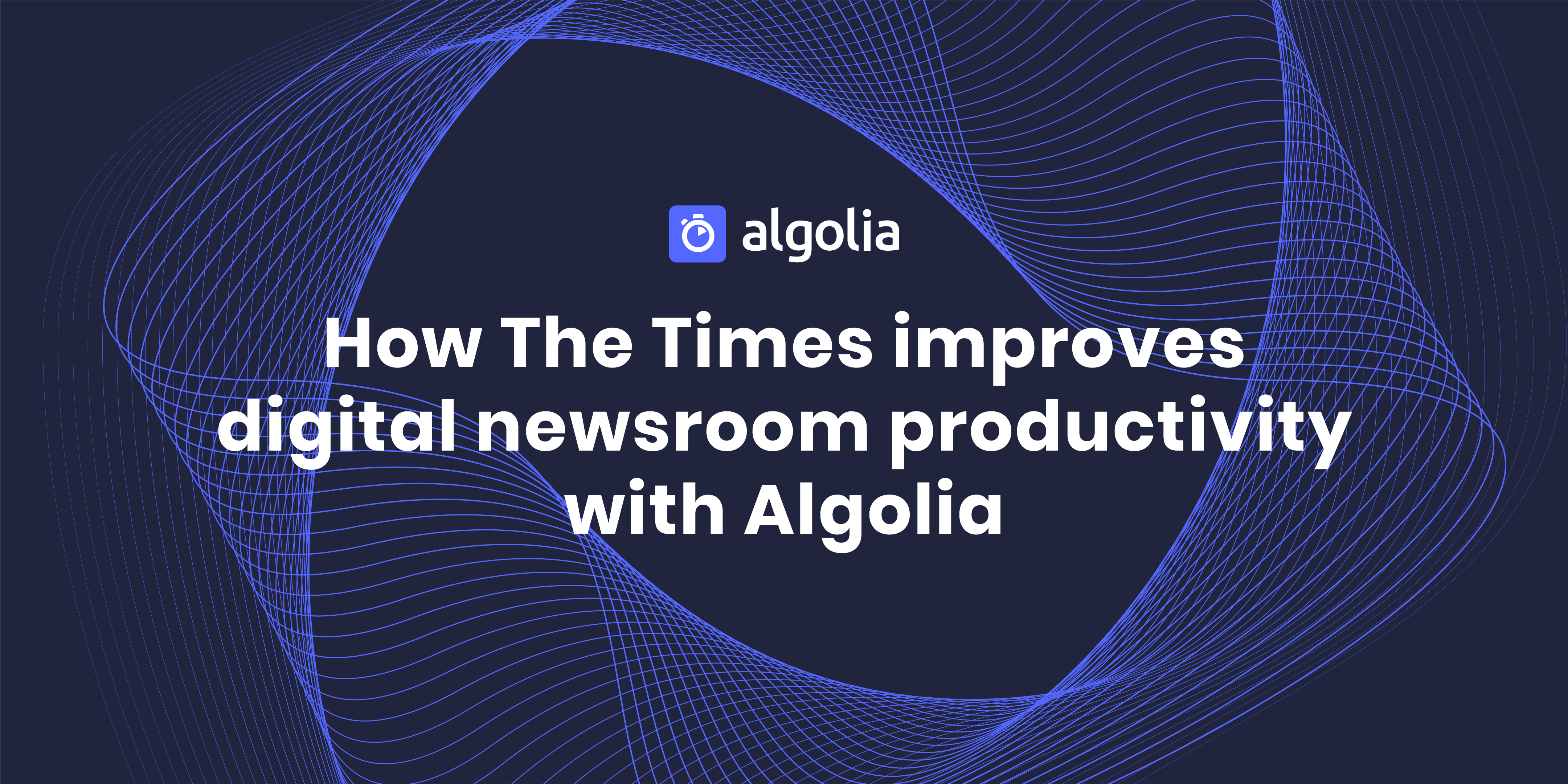 Matt Taylor showcases The Times' fast, easy-to-use digital newsroom with Algolia