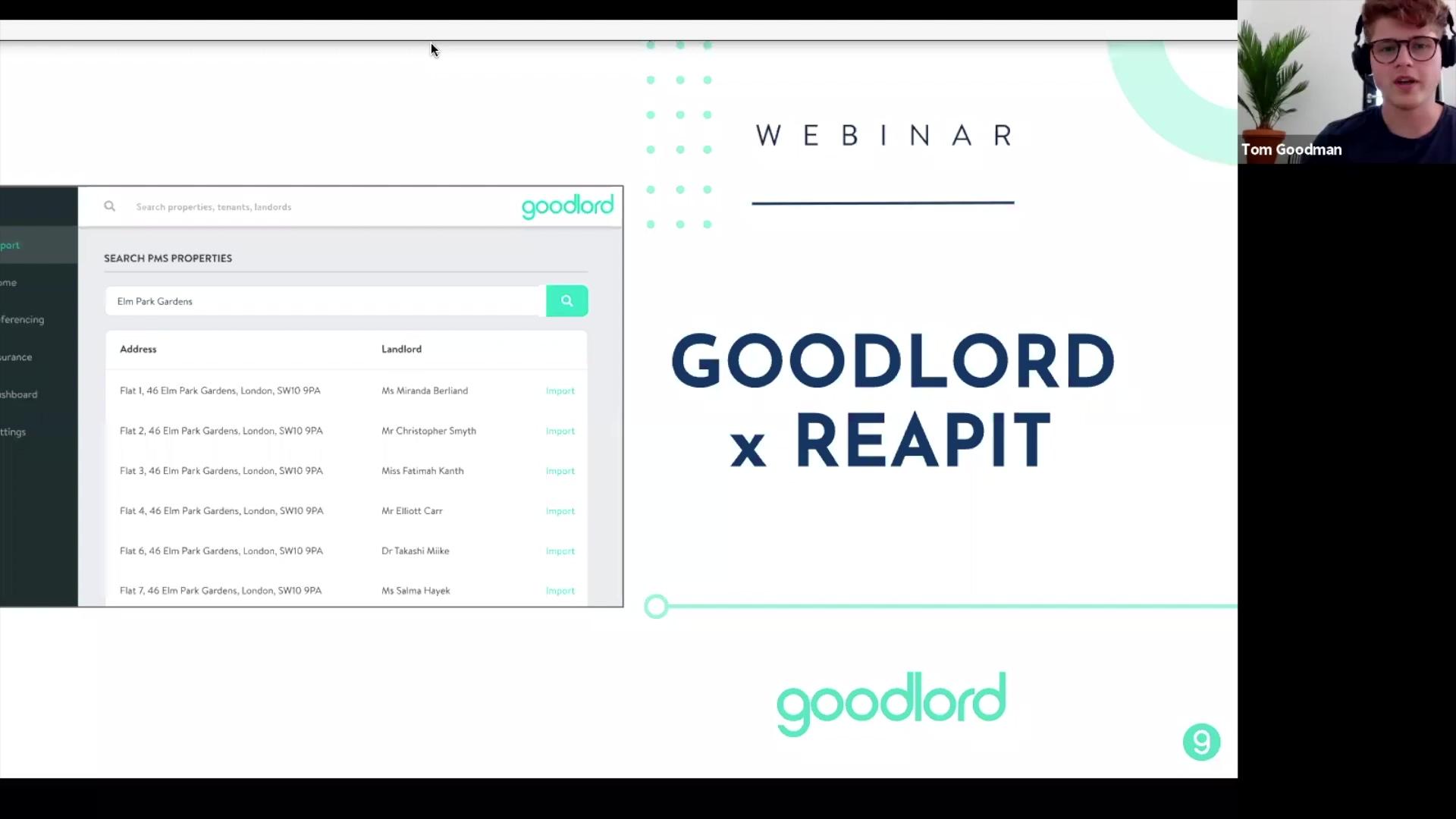 Reapit x Goodlord webinar