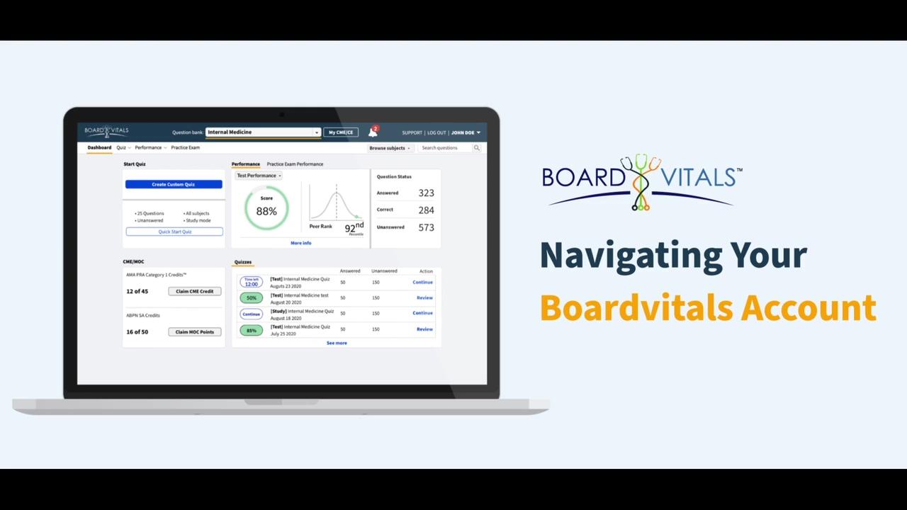Navigating the BoardVitals Dashboard