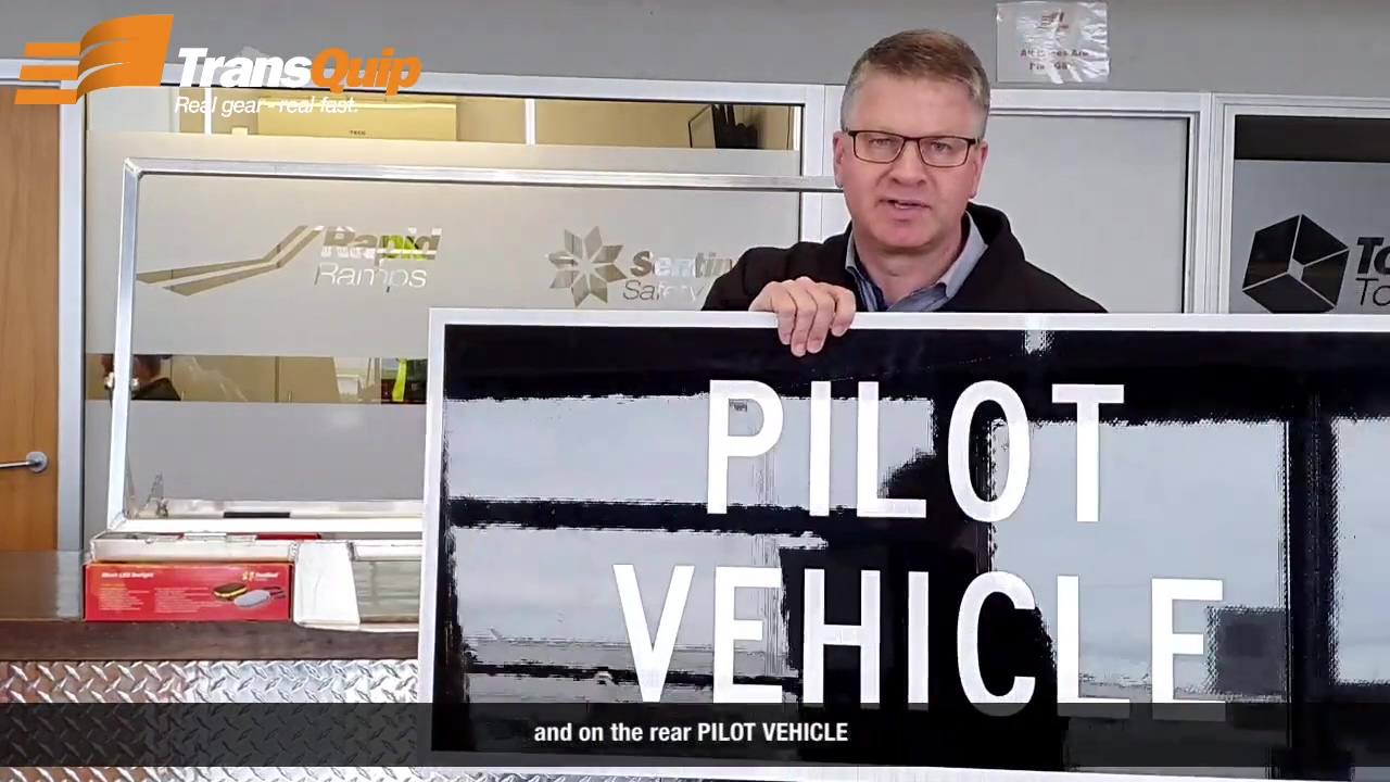 Folding Mount for Pilot Vehicle Signs Video_2020