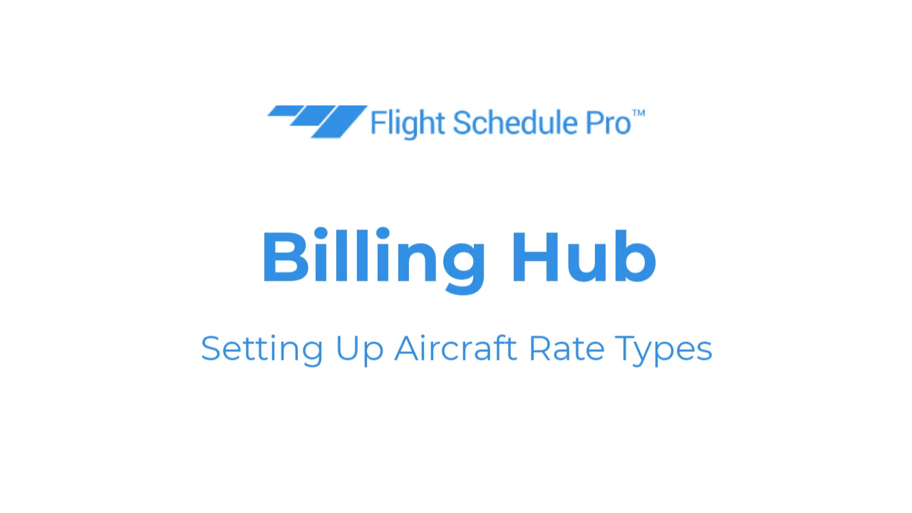 aircraft rate types