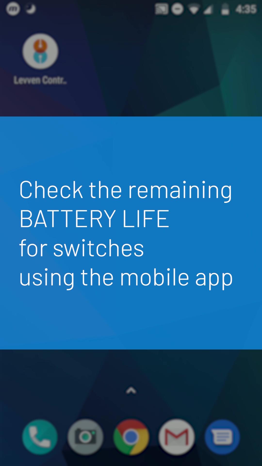 Levven App Check Battery Level