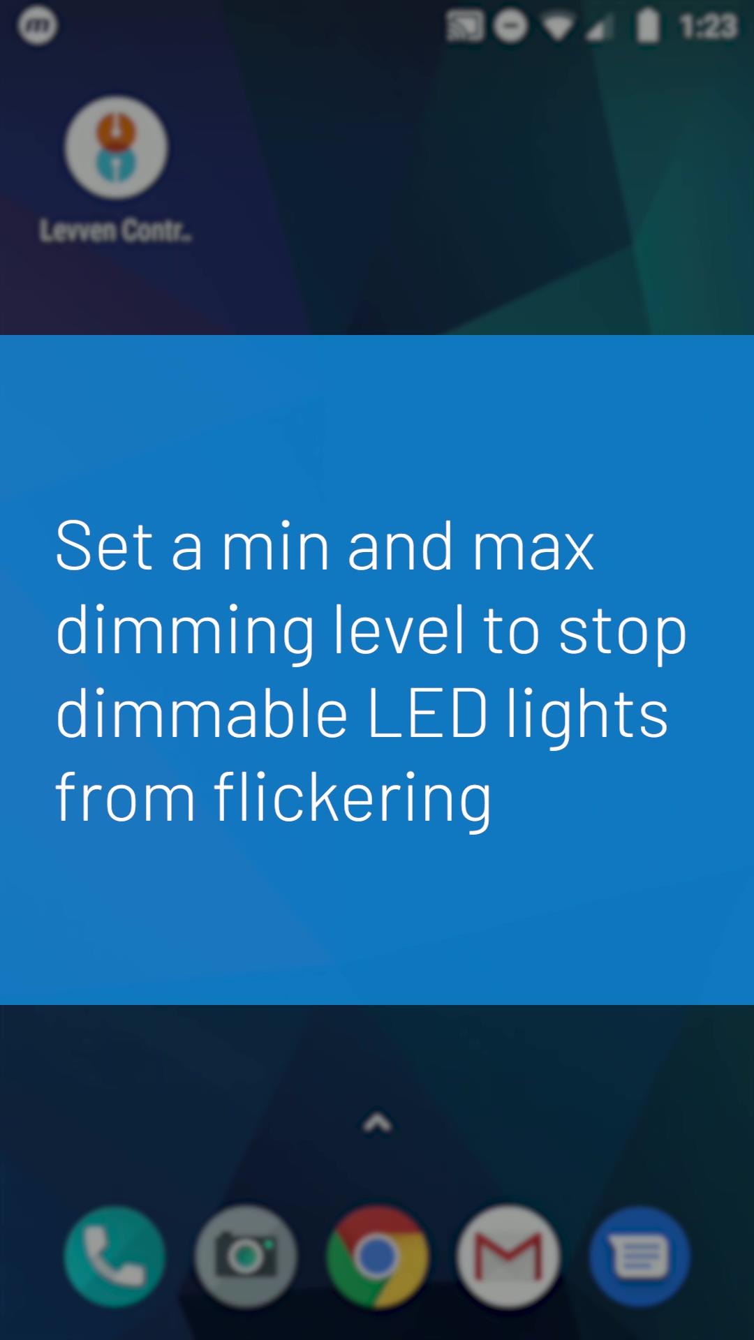 Levven App Set Dimmer Min Max