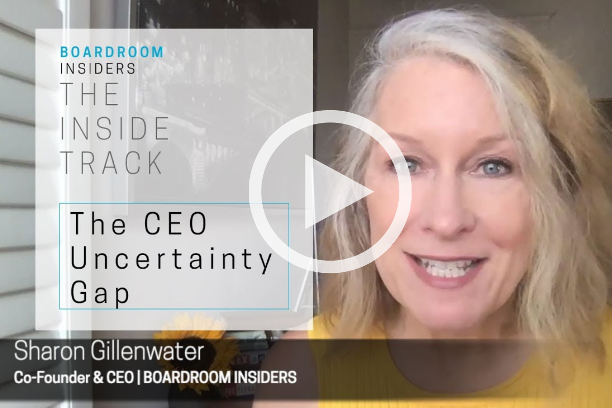 Inside Track09- The CEO Uncertainty Gap