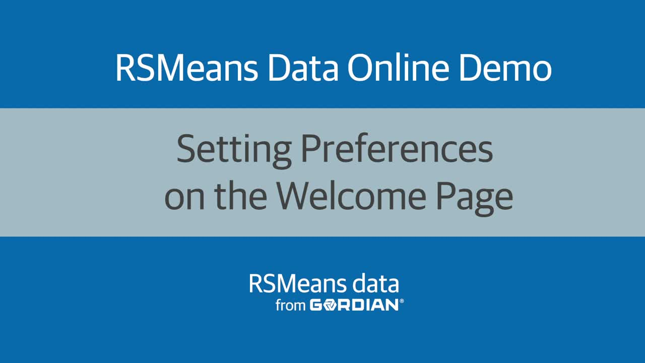 Setting Preferences on the Welcome Page