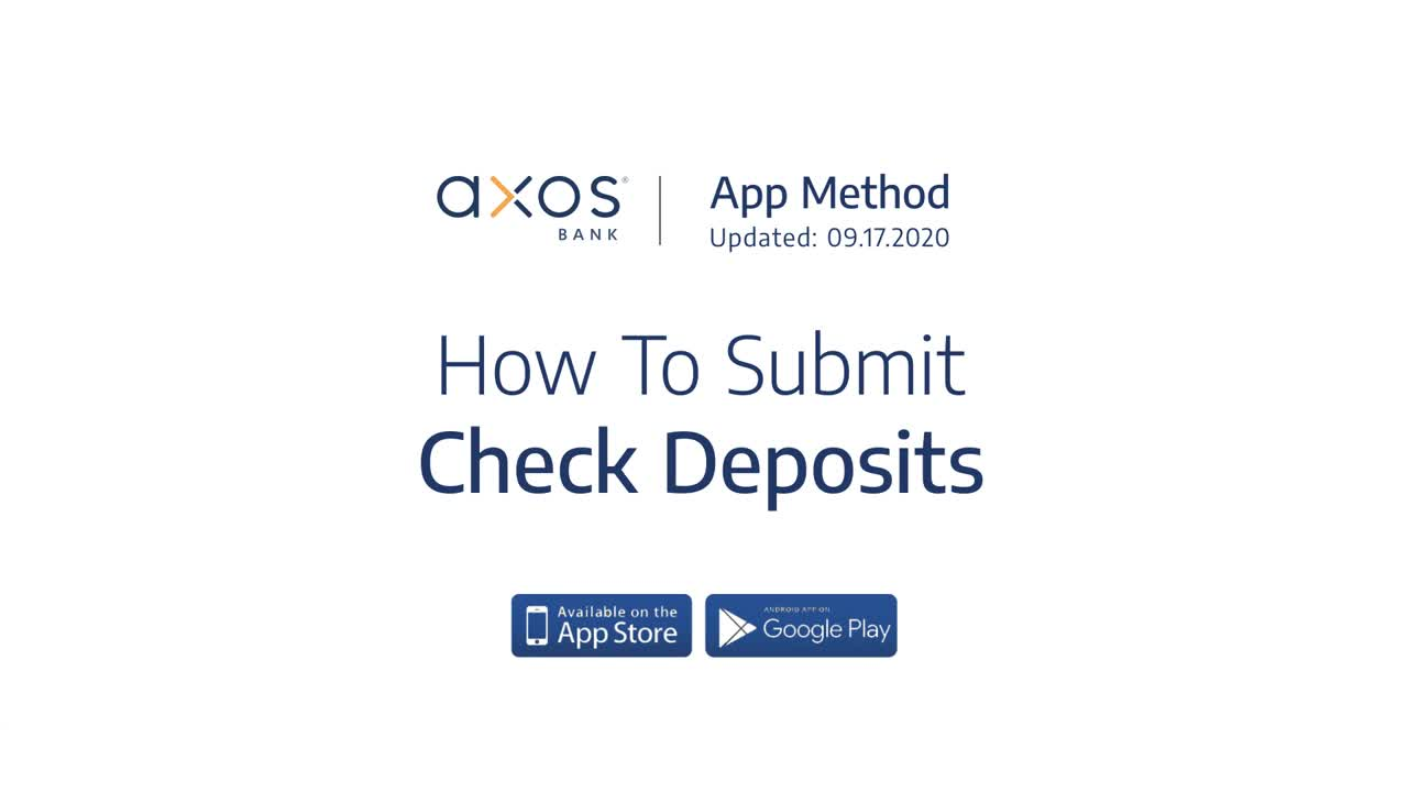 How to Submit Check Deposits