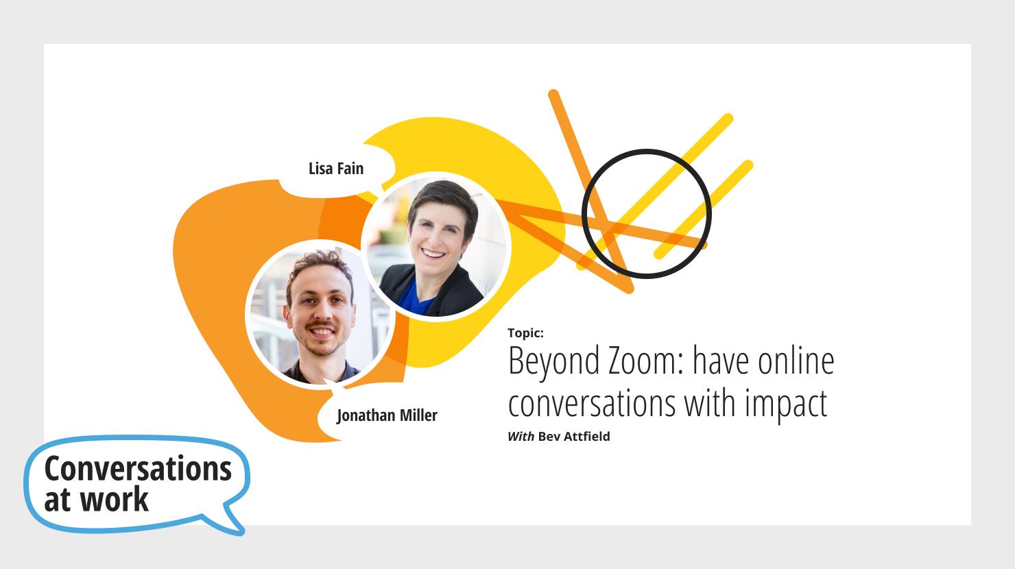 Conversations at Work - September 17