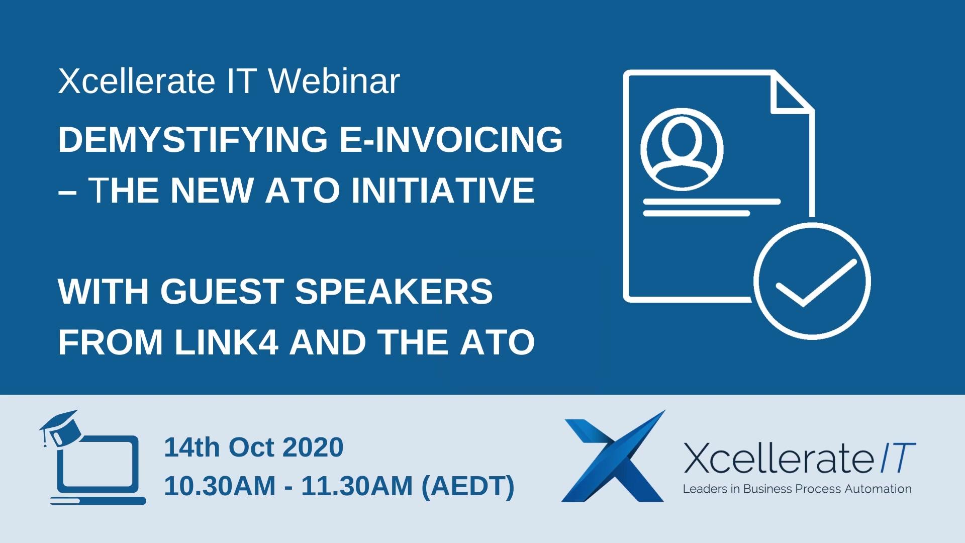 E-Invoicing Webinar 14-Oct-2020 Invitation Video