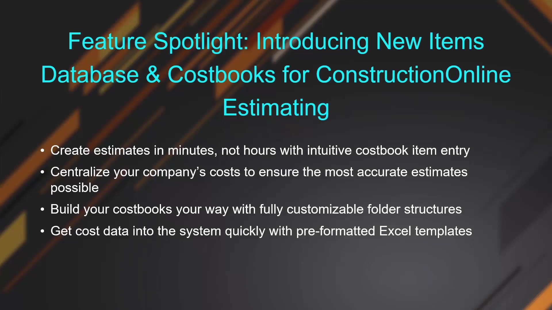 Introducing New Items Database and  Costbooks for ConstructionOnline Estimating_2