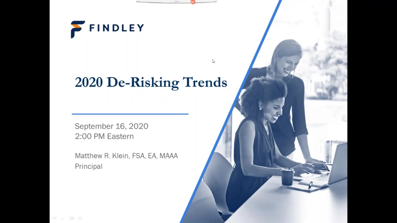 Webinar De-Risking Trends for 2020 and Beyond