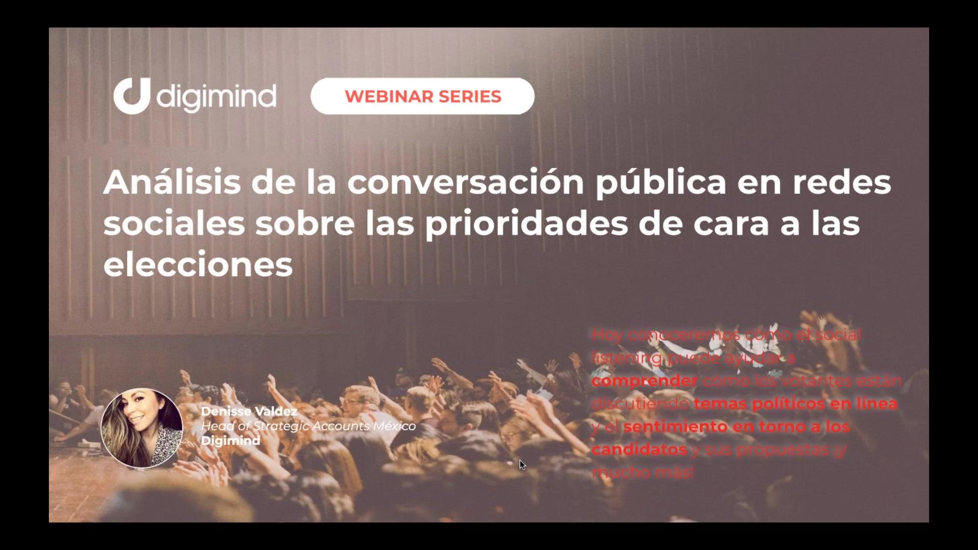 Análisis de la conversación pública en redes sociales sobre las prioridades de cara a las eleccio