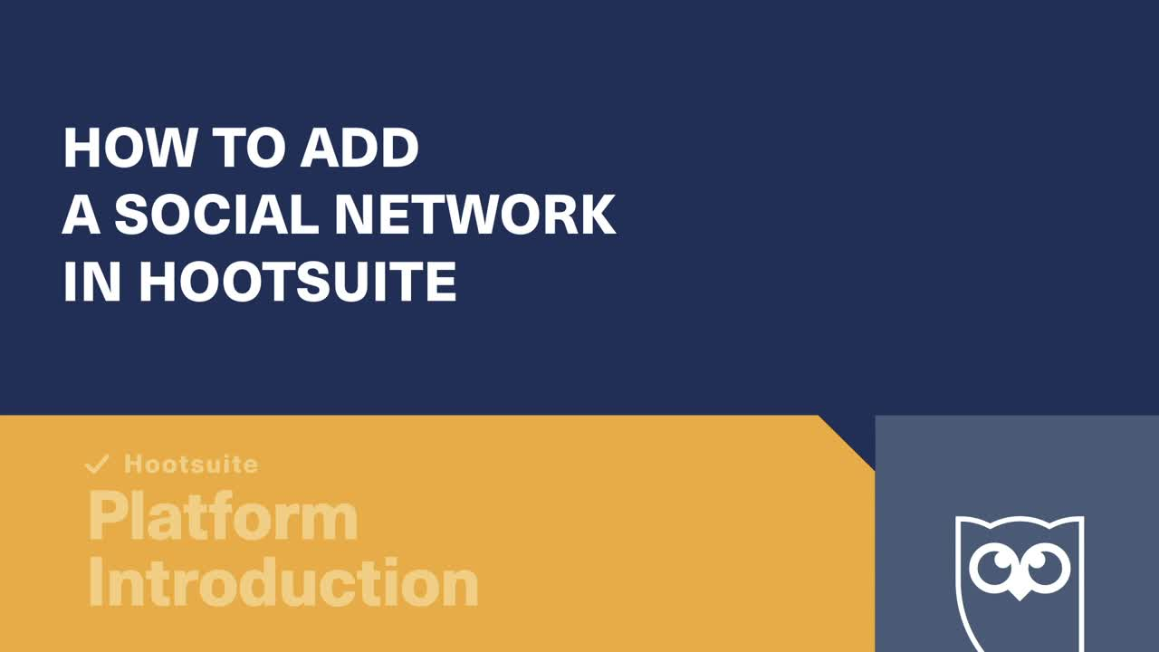 How to add a social network in Hootsuite video