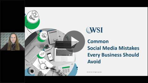 Screenshot of Common Social Media Mistakes Every Business Should Avoid Webinar.