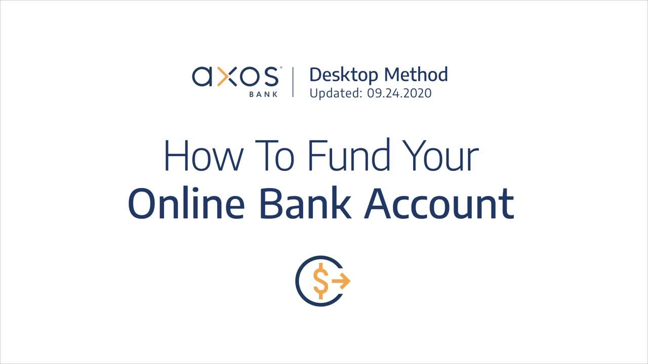How to Fund Your Online Bank Account