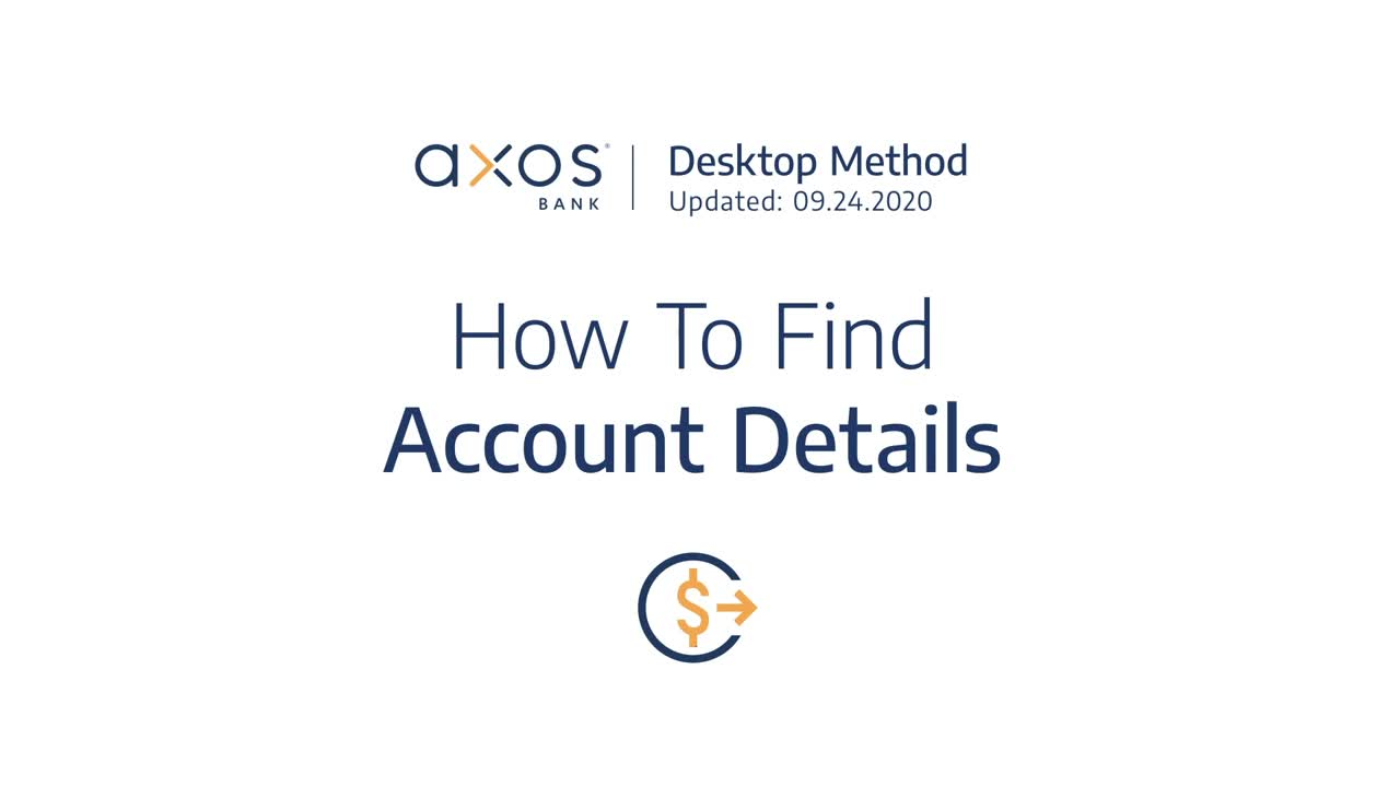 How to Find Account Details
