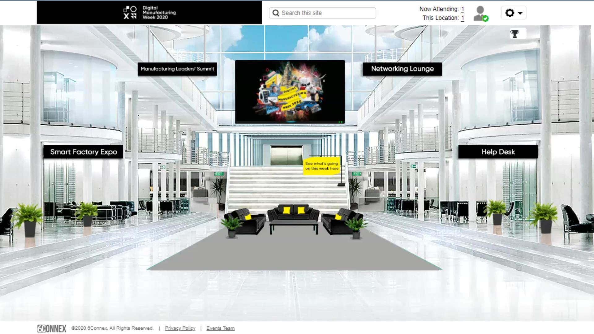 Digital Manufacturing Week 2020 dark intro