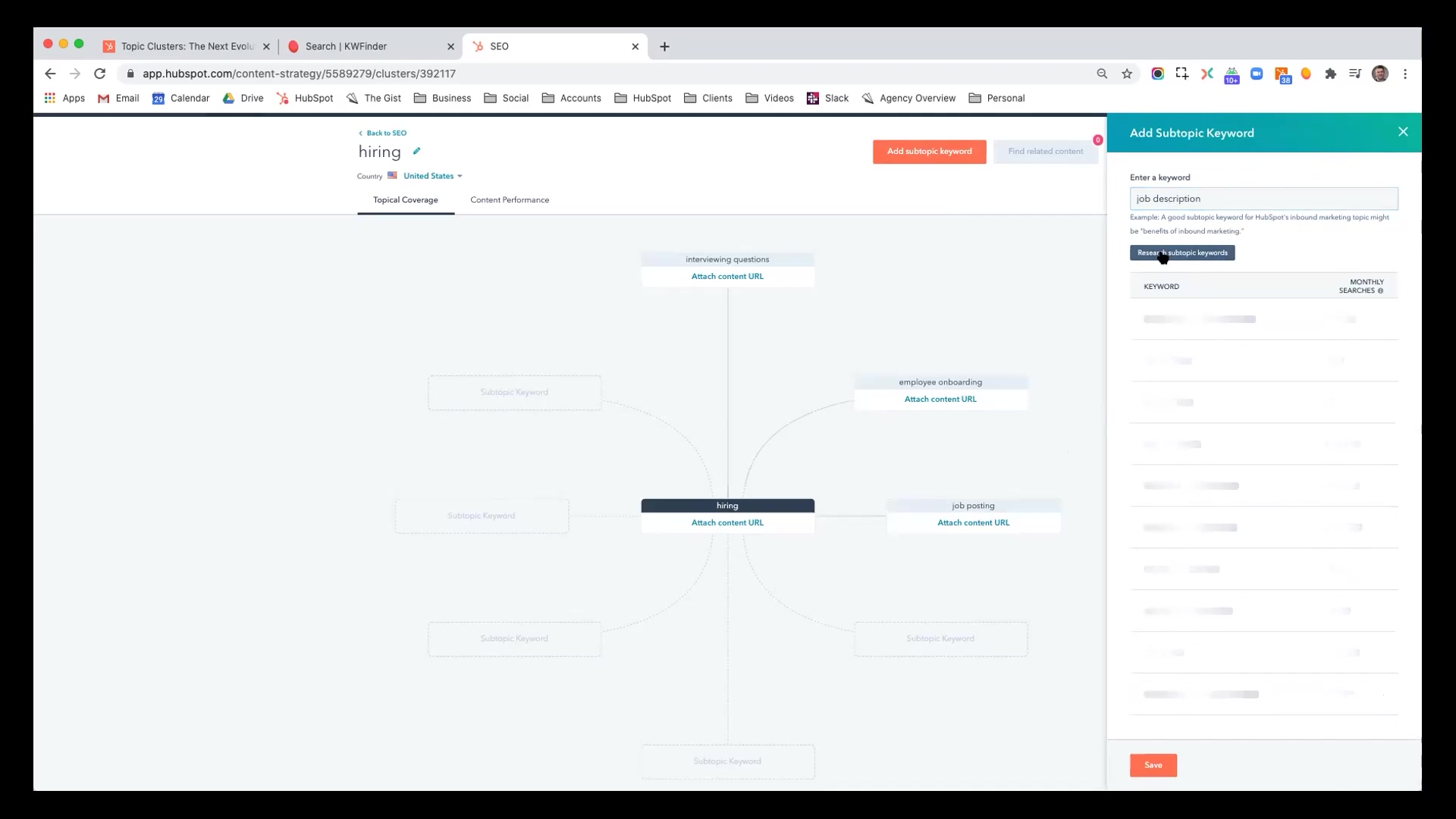 Hubspot - Planning Your Content with the SEO Tool