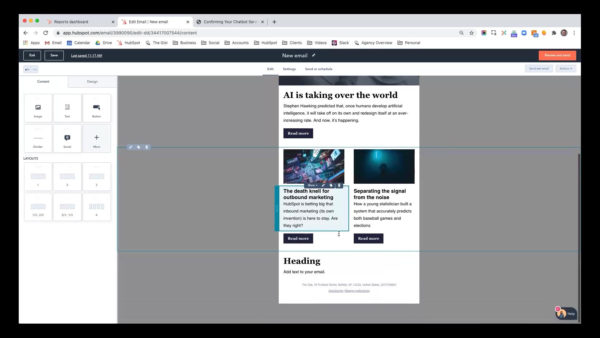 Hubspot - Creating & Sending Marketing Emails