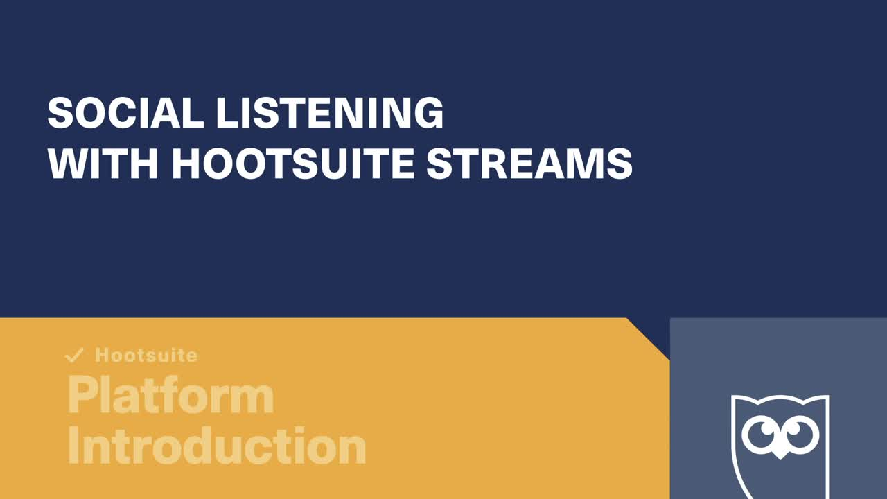 /Social Listening with Hootsuite Streams