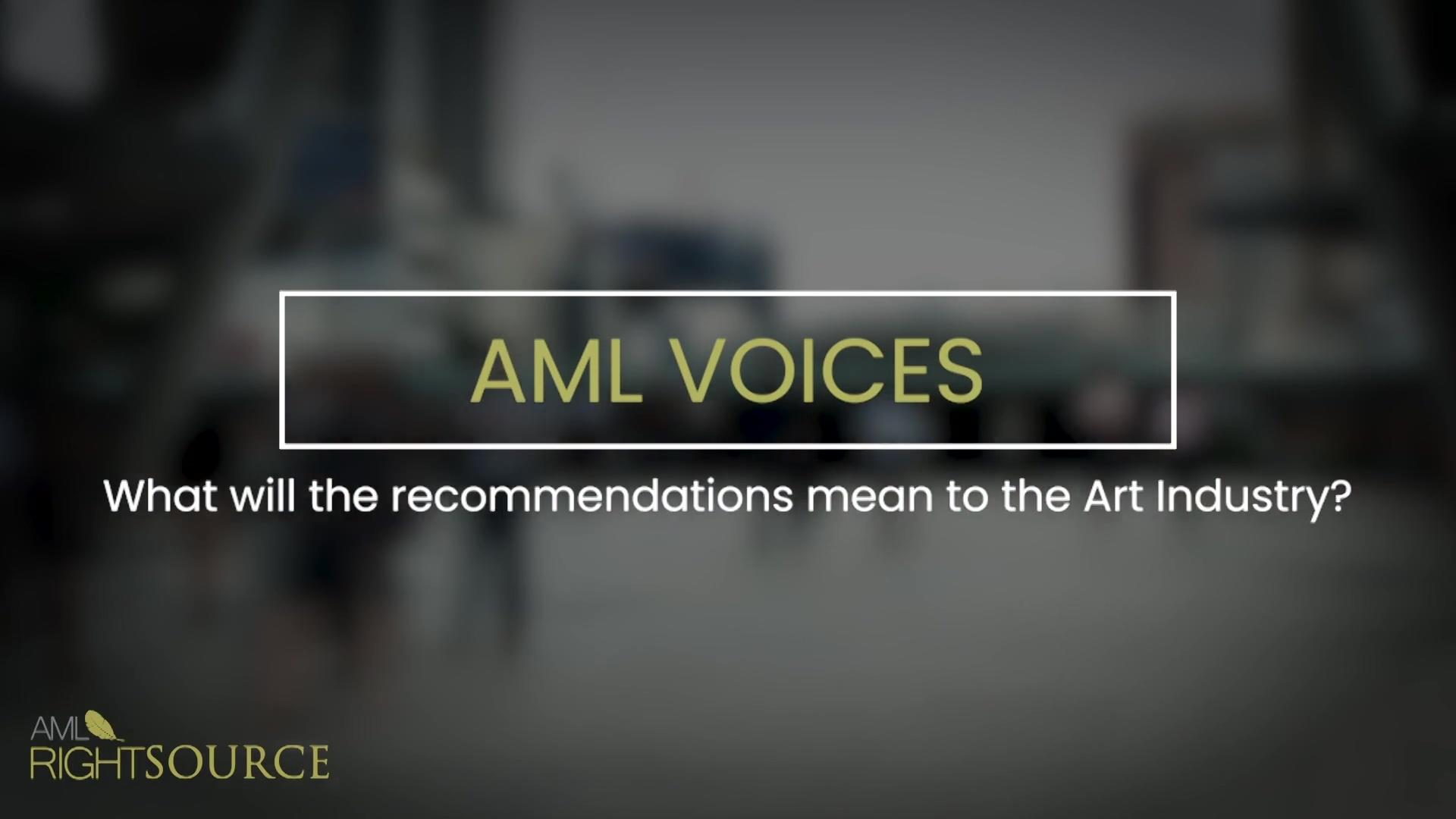 What will the recommendations mean to the Art Industry_Cutdown_V002