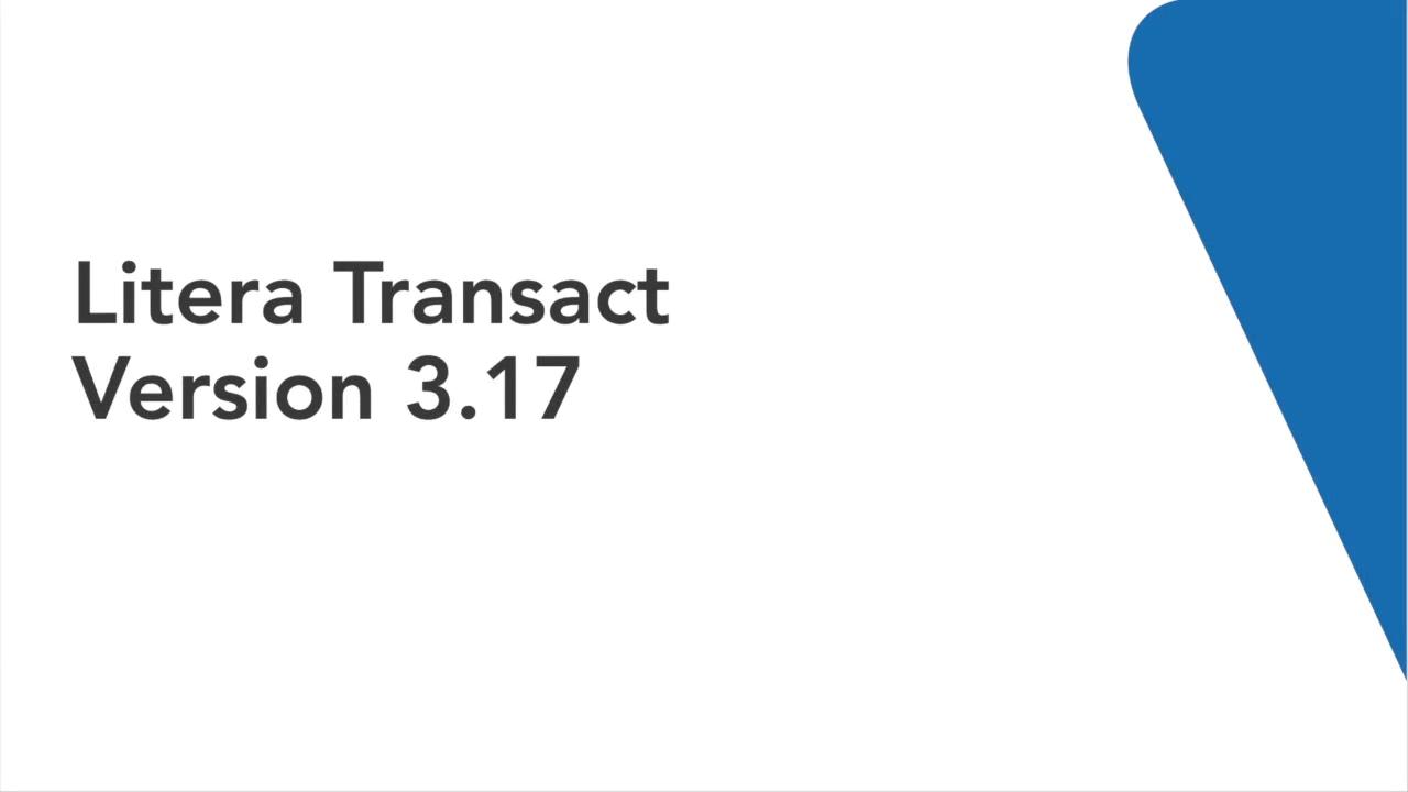 Q3 Litera Transact