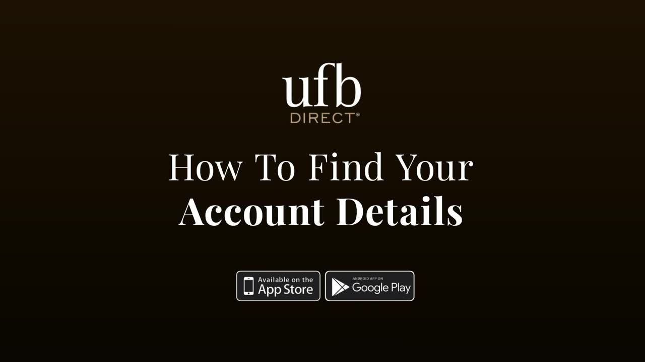 How To Find Your Account Details, play video
