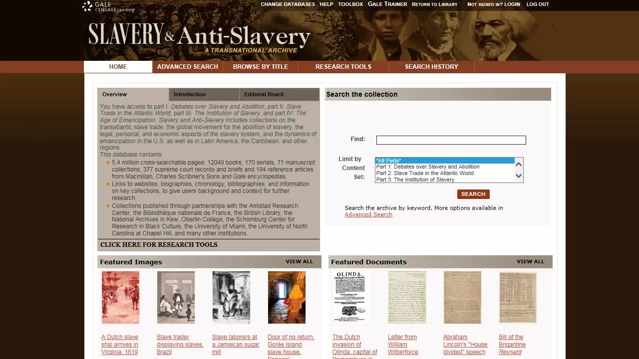 Slavery and Anti-Slavery: A Transnational Archive - Basics Thumbnail