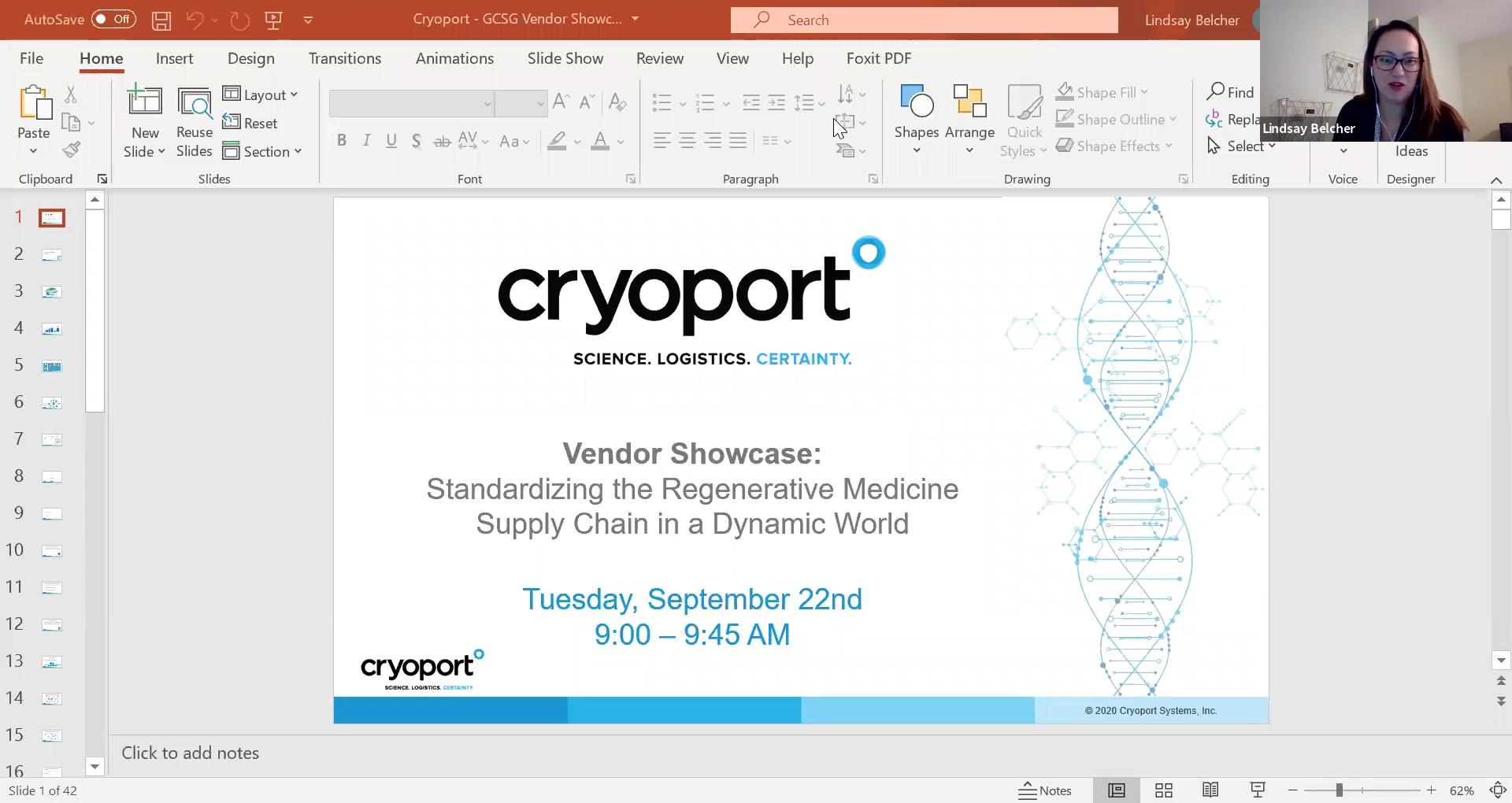 Vendor Showcase - Cryoport