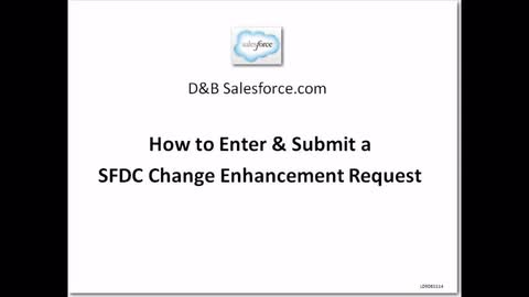 Salesforce.com How to Create a SFDC Change Board Request v2