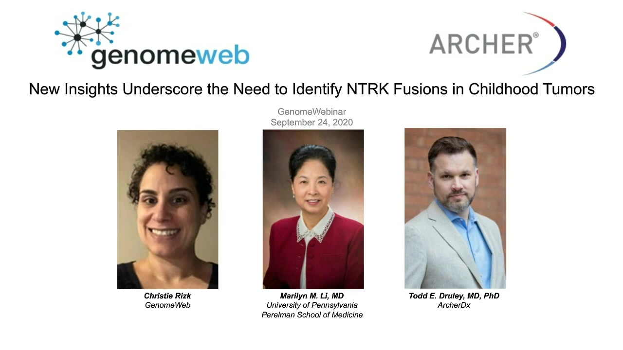 Webinar | New Insights Underscore the Need to Identify NTRK Fusions in Childhood Tumors