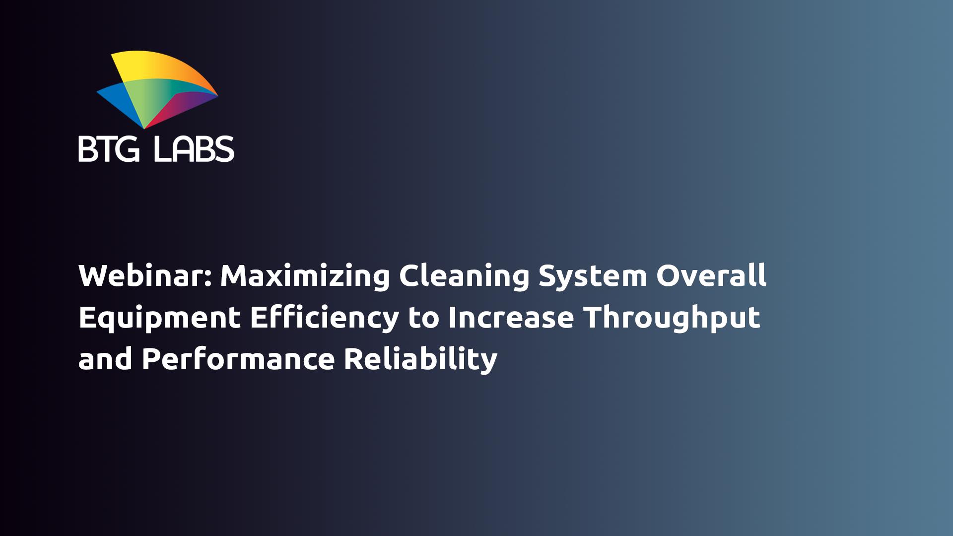最大化 - 清洁系统 - 整体设备 - 效率增加通量 - 性能 -  Relia