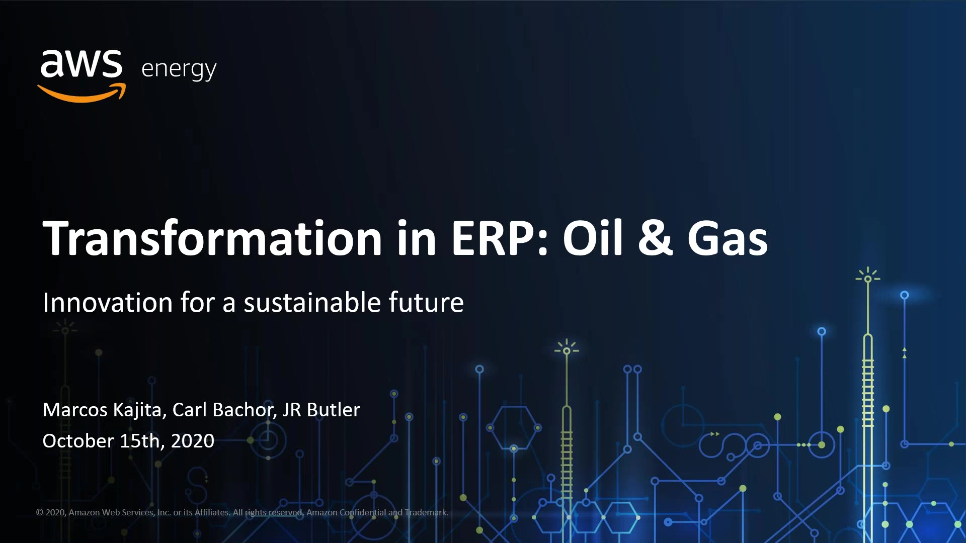 AWS & Pillir Session One_ Opportunities to Lower Costs in Today's Oil and Gas Processes