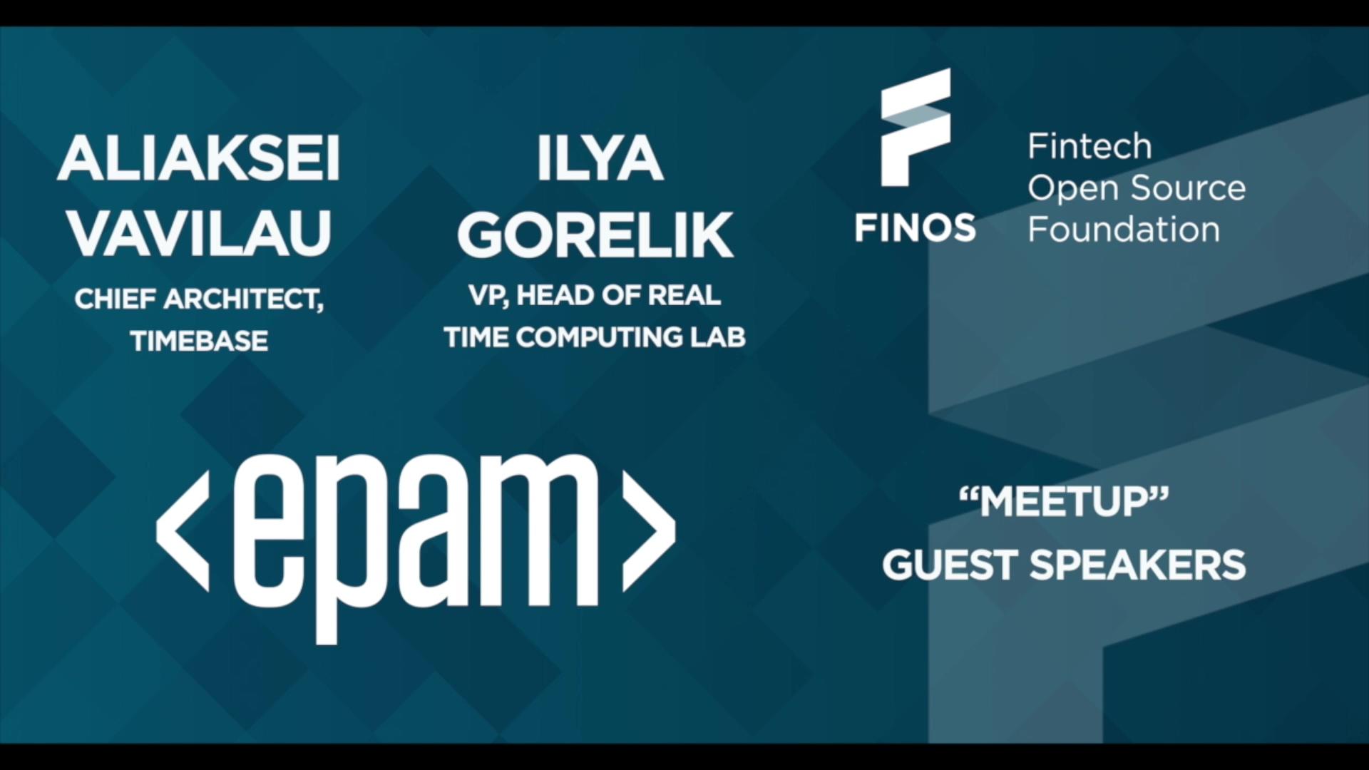 FINOS Meetup - EPAM - 7 Oct 20