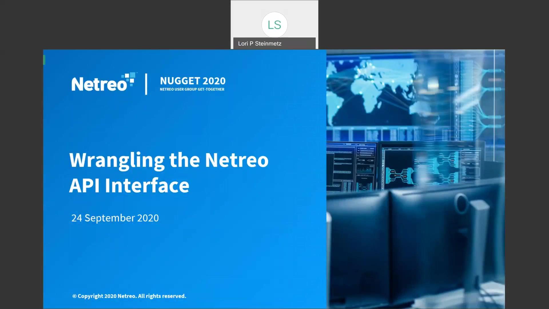 Wrangling the Netreo API Interface