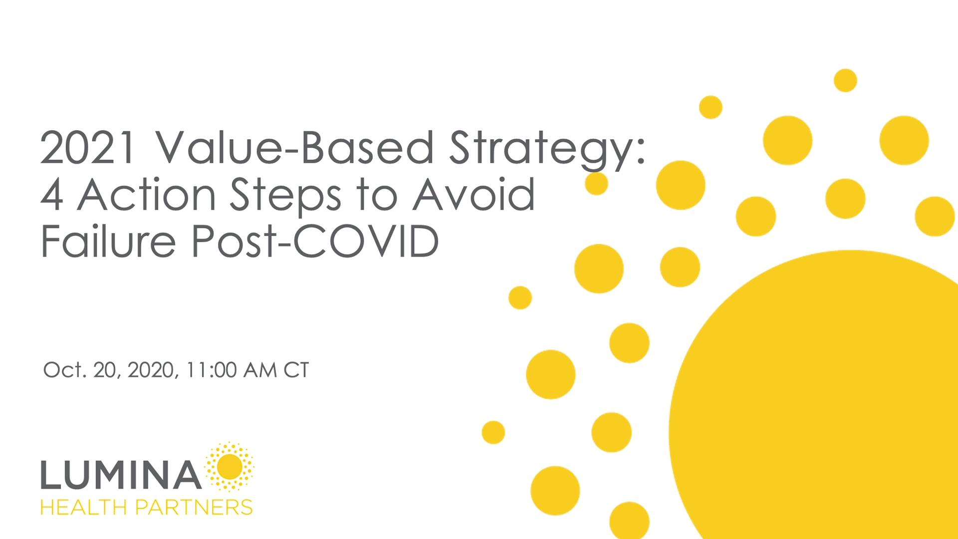 2021 Value Based Strategy