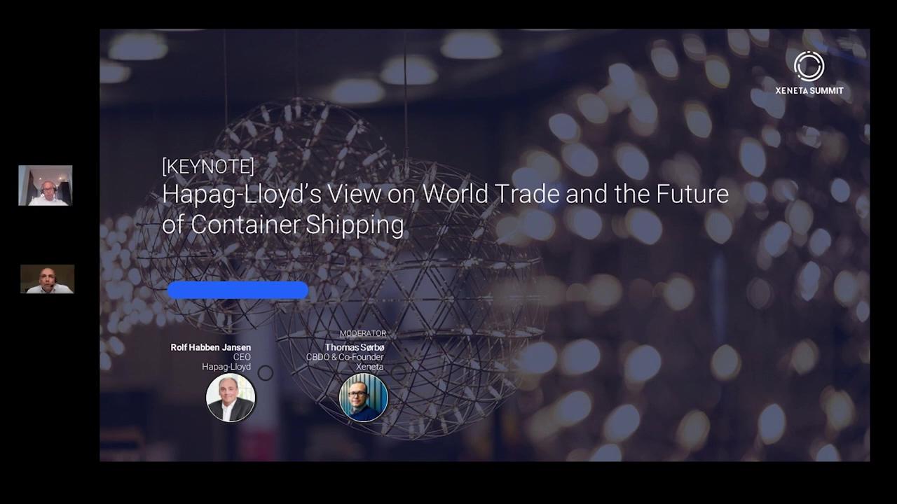 Xeneta Summit 2020 _ Hapag Lloyd Keynote