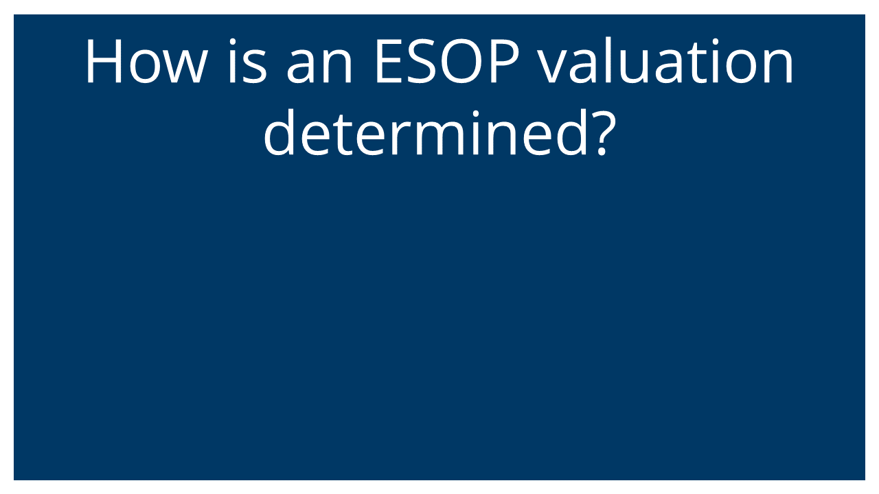 How are ESOP valuations determined? (Q&A Webinar)