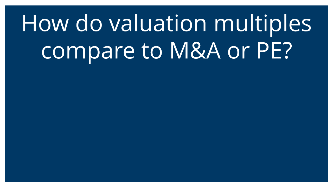 How do ESOP valuation multiples compare to other transactions?