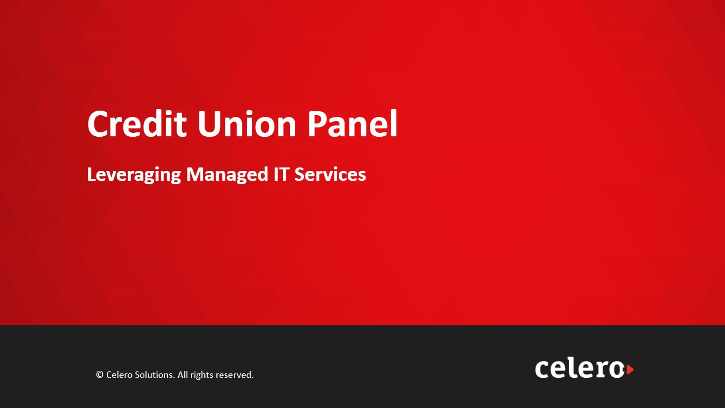 Managed Services Panel - Recording Full