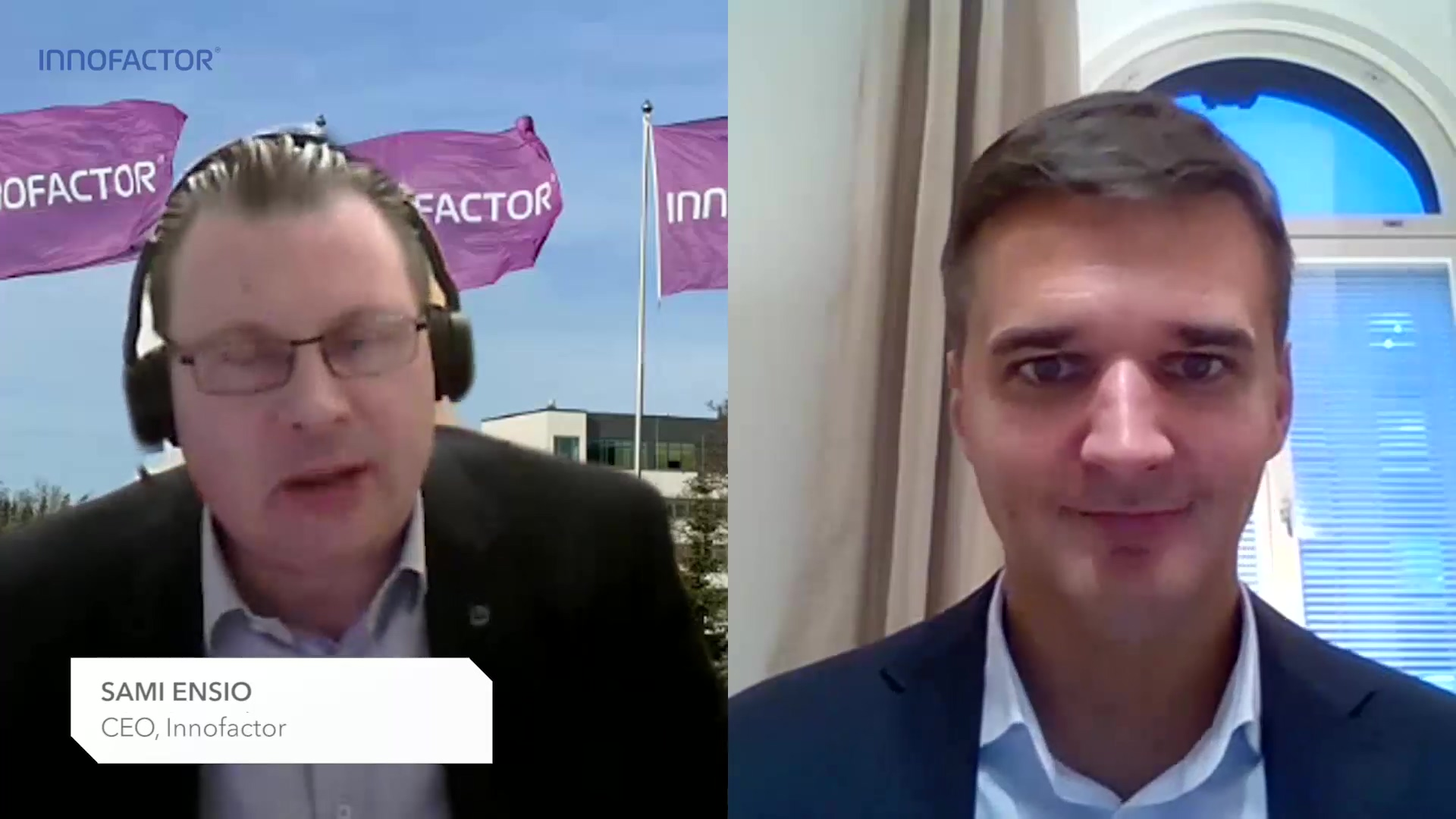 Innofactor Q320 video interview with CEO Sami Ensio
