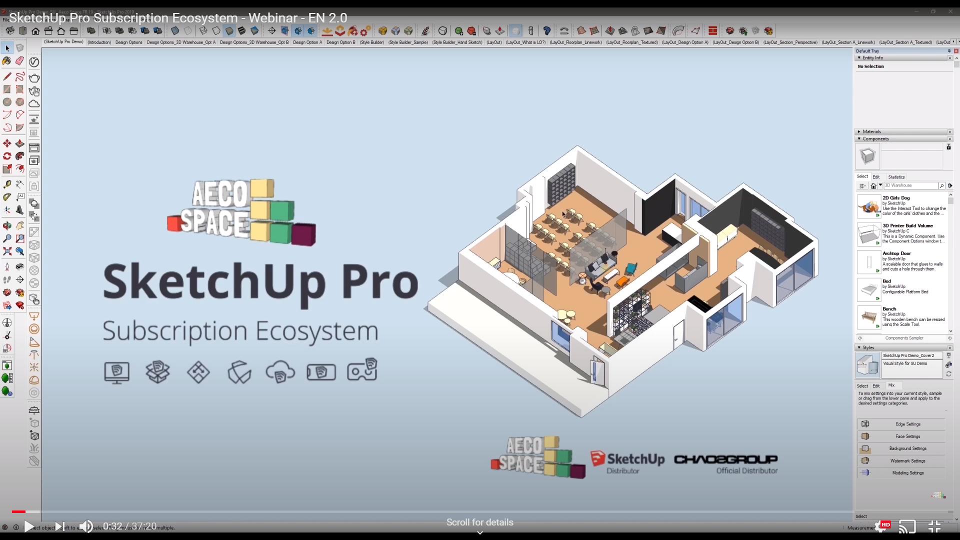 SketchUp Pro Subscription Ecosystem - Webinar by AECO Space - EN