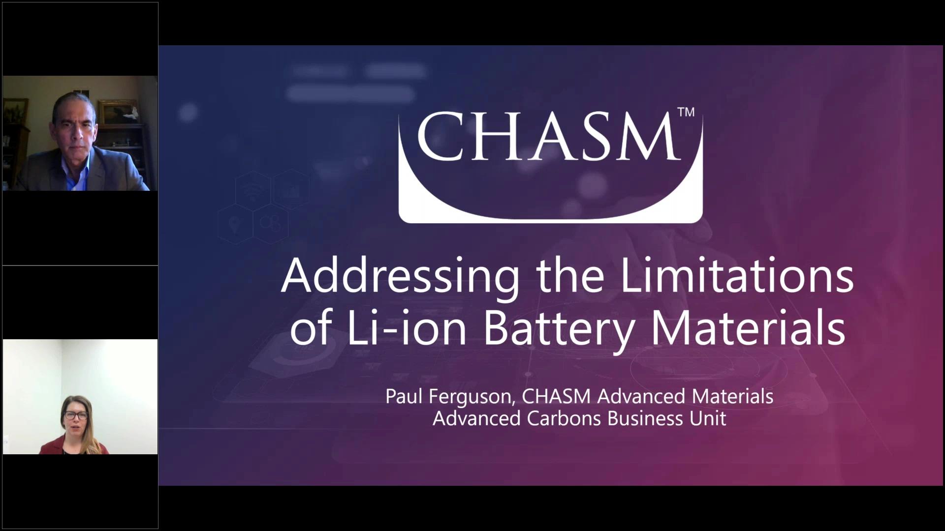 ( WEBINAR ) Addressing the Limitations of Li-Ion - Battery Materials