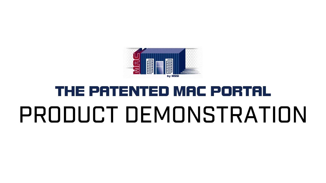 MAC PORTAL PRODUCT DEMONSTRATION1-1