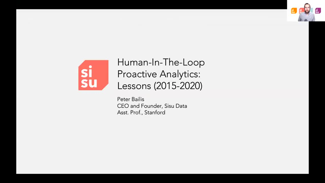 HILDA 2020 Keynote - Human-in-the-Loop Proactive Analytics with Peter Bailis