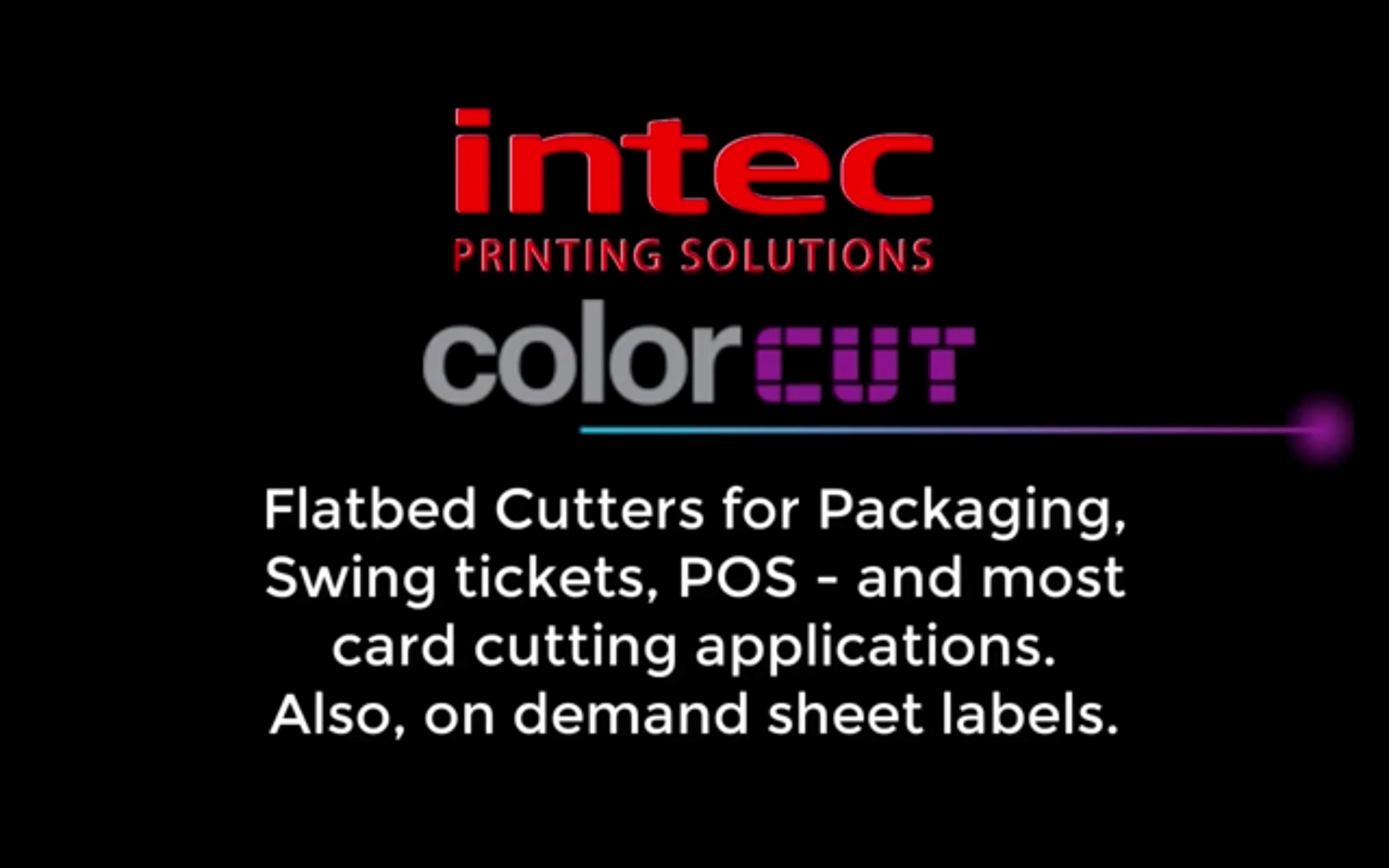 Intec ColorCut Flatbed Video